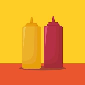 Botella de salsas