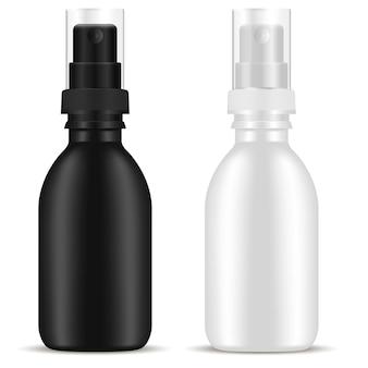 Botella de spray. paquete de aerosol cosmético. el plastico