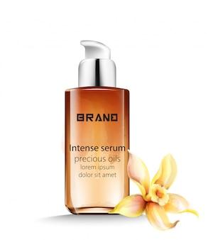 Botella de suero intenso con aceites preciosos en su interior.