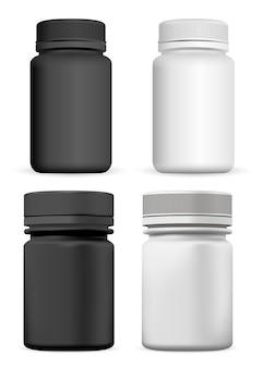 Botella suplementaria tarro de pastillas