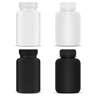 Botella de suplemento médico