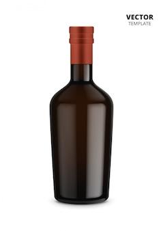 Botella de vino aislada en blanco
