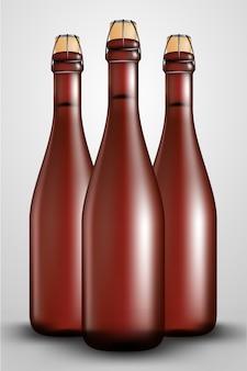 Botella de vino de lúpulo larga