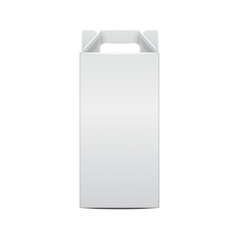 Botella de vino de maqueta y plantilla de botella de vid de paquete plegable. ilustración de la caja de artesanía de regalo para, fondo, banner. vista frontal