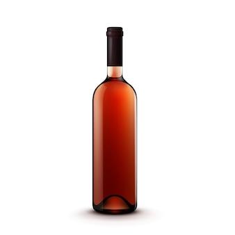 Botella de vino de vidrio de vector