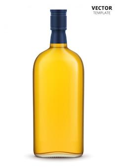 Botella de whisky, brandy o coñac aislada