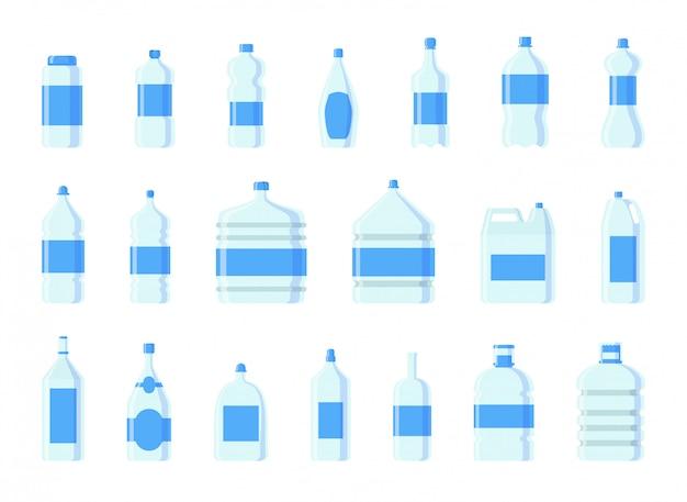 Botellas de agua de plástico