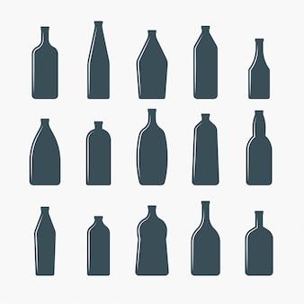 Botellas de cerveza vector ilustracion