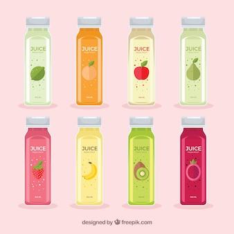 Botellas de deliciosos zumos