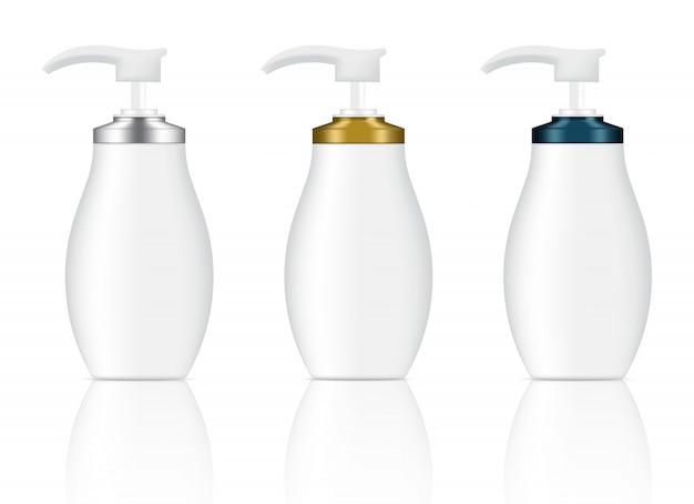 Botellas de gel de jabón cosmético