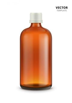 Botellas médicas aisladas en blanco