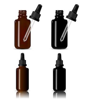 Botellas para productos médicos, vape e líquido, aceite.