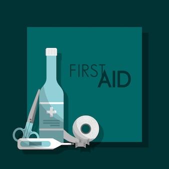 Botiquín de primeros auxilios salud médica