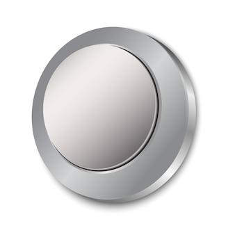 Botón en blanco aislado
