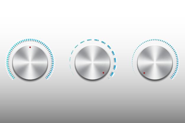 Botón de control de escala de volumen de música