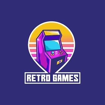Botón de dispositivo de arcade de consola de juegos retro