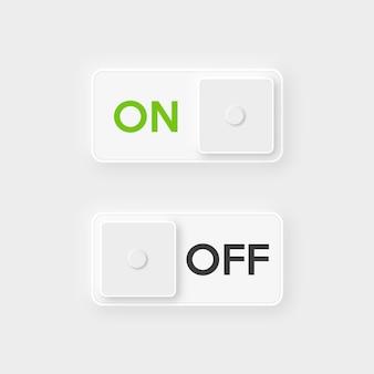 Botón de encendido y apagado del icono.
