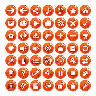 Botón estilo gui jalea color naranja.