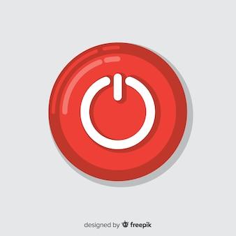 Botón flat rojo de start