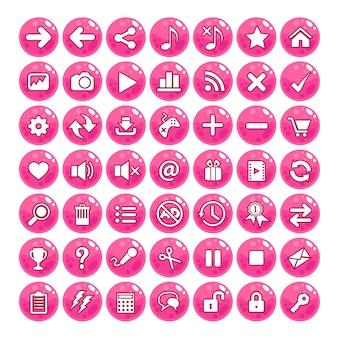 Botón de gui estilo jalea color rosa.