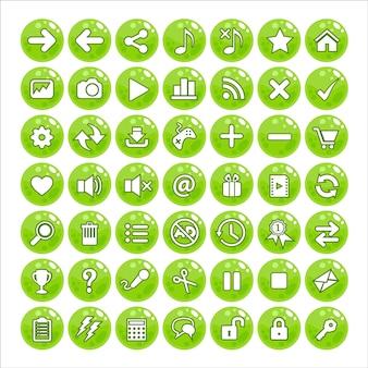 Botón gui estilo jalea color verde.