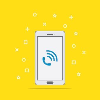 Botón de icono de llamada de teléfono en la pantalla del teléfono inteligente
