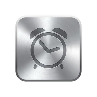 Botón de icono de reloj despertador