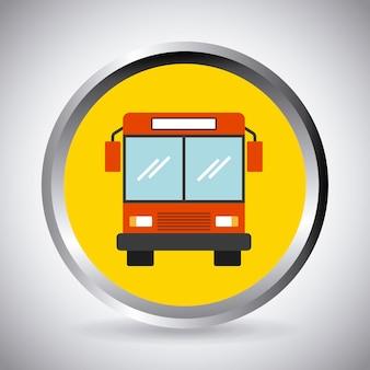 Botón con el icono de vehículo de autobús