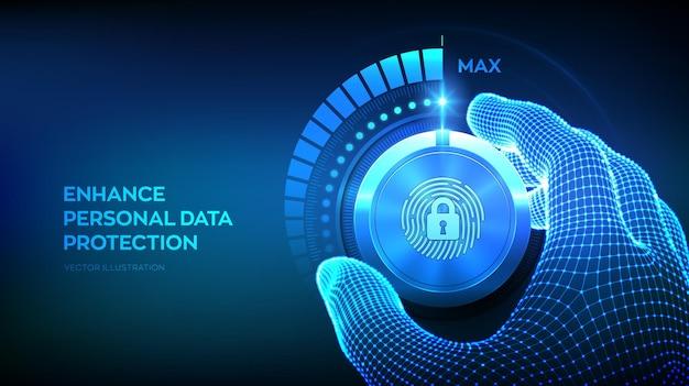 Botón de mando de niveles de seguridad de privacidad