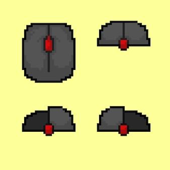 Botón del mouse con estilo pixel art