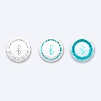 Botón de red móvil con señal bluetooth. tecnología para dispositivo telefónico, botón de comunicación, aplicación de transferencia