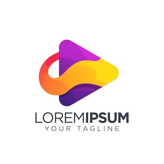Botón de reproducción icono del logotipo