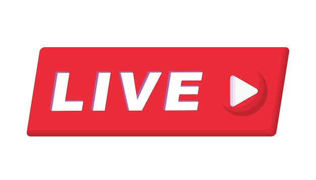 Botón de señal en línea de transmisión en vivo