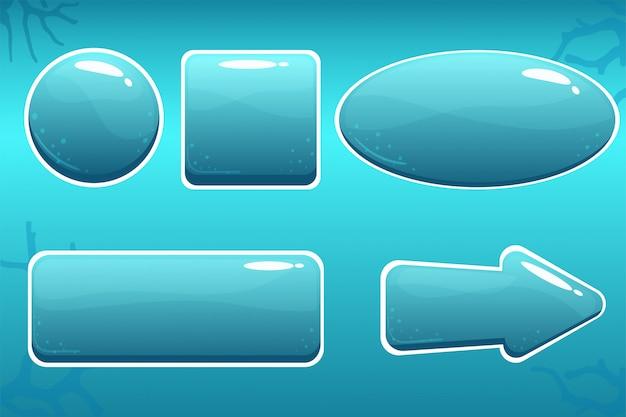 Botones de agua de dibujos animados para gui