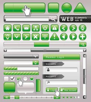 Botones en blanco para sitio web y aplicación.