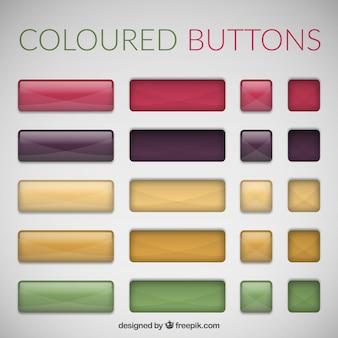 Botones brillantes para web