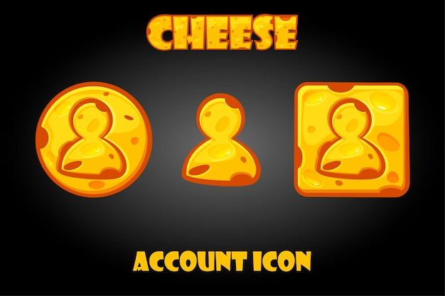 Botones de cuentas de queso para el menú del juego.