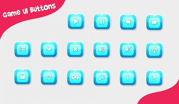 Botones de diseño del juego