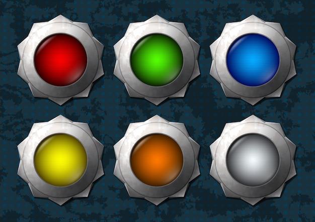 Botones de estrellas de colores