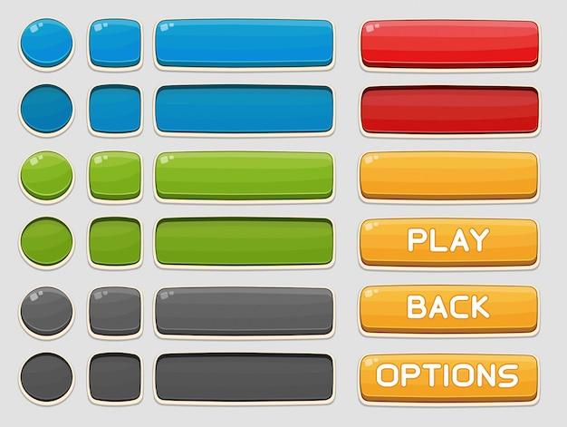 Botones de interfaz configurados para juegos o aplicaciones
