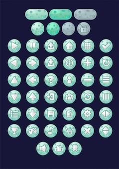 Botones de juego del planeta