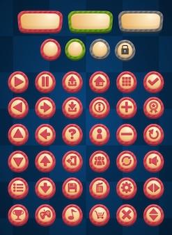 Botones de juego de rayas