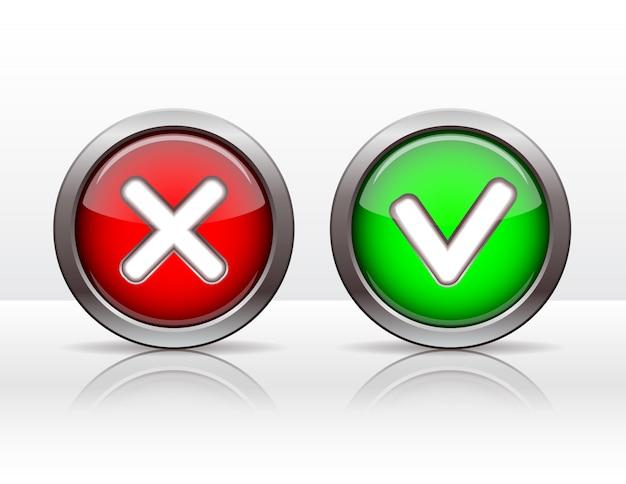 Botones de marca de verificación.
