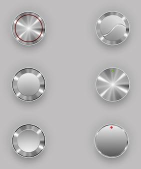 Botones de metal. ilustración