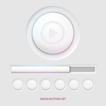 Botones de reproductor media