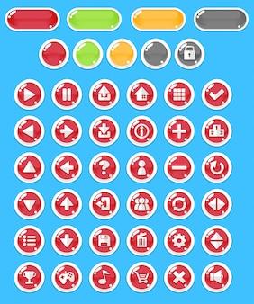 Botones rojos del juego de la burbuja