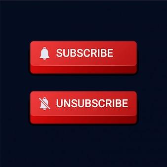 Botones de suscripción y cancelación de suscripción