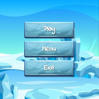 Botones con texto para juego.