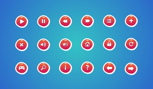 Botones web, botones de diseño de juegos