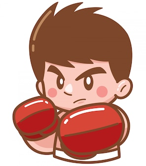 Boxeo de dibujos animados